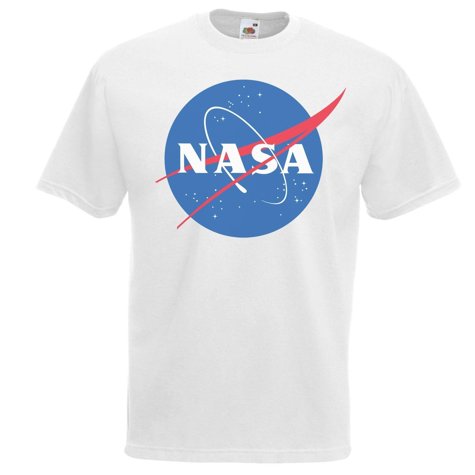Mens White Nasa Space Program T Shirt Science Geek Physics Tshirt