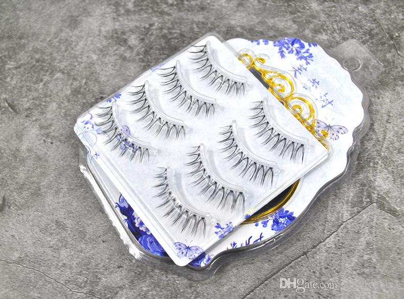 Faux Mink Lashes False Eyelashes Messy Cross Thick Natural Fake Eye Lashes Makeup Tips Bigeye Long False Eye Lashes 44