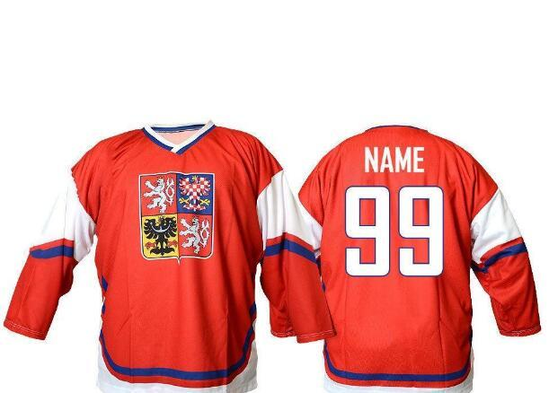 8bb2e674cd9 2019 Customize Team Czech Republic  68 Jaromir Jagr 14 TOMAS PLEKANEC Hockey  Jersey Embroidery Stitched Or Custom Any Name Or Number Retro Jersey From  ...
