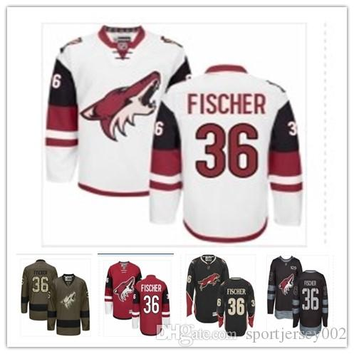 separation shoes 85feb d38a4 Arizona 2019 Hockey Jerseys Coyotes men/women/youth best 36 Christian  Fischer Jersey custom name and number free ship baseball wear