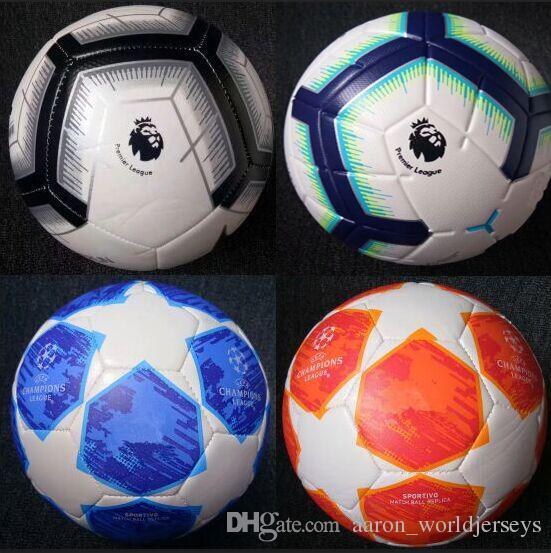 70032baac978b Compre Liga De Campeones 2018 2019 Tamaño 5 Balones Balón De Fútbol De Alto  Grado Partido Agradable Liga Premer 18 19 Balones De Fútbol Enviar Las  Pelotas ...