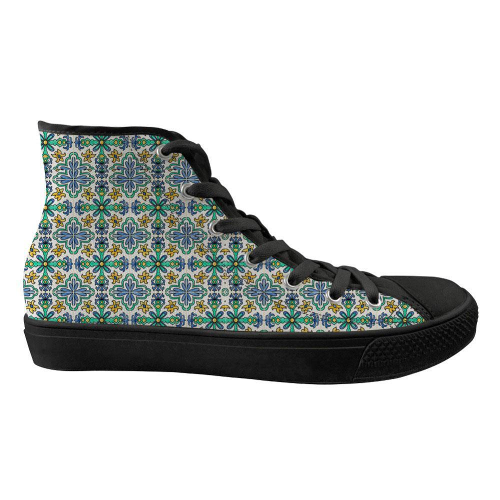 À Pour Haut Tuile De Espagnole La Appartements Mode Personnalisé Chaussures Vulcanized Toile 3d Femmes Des Impression bfy6Y7g
