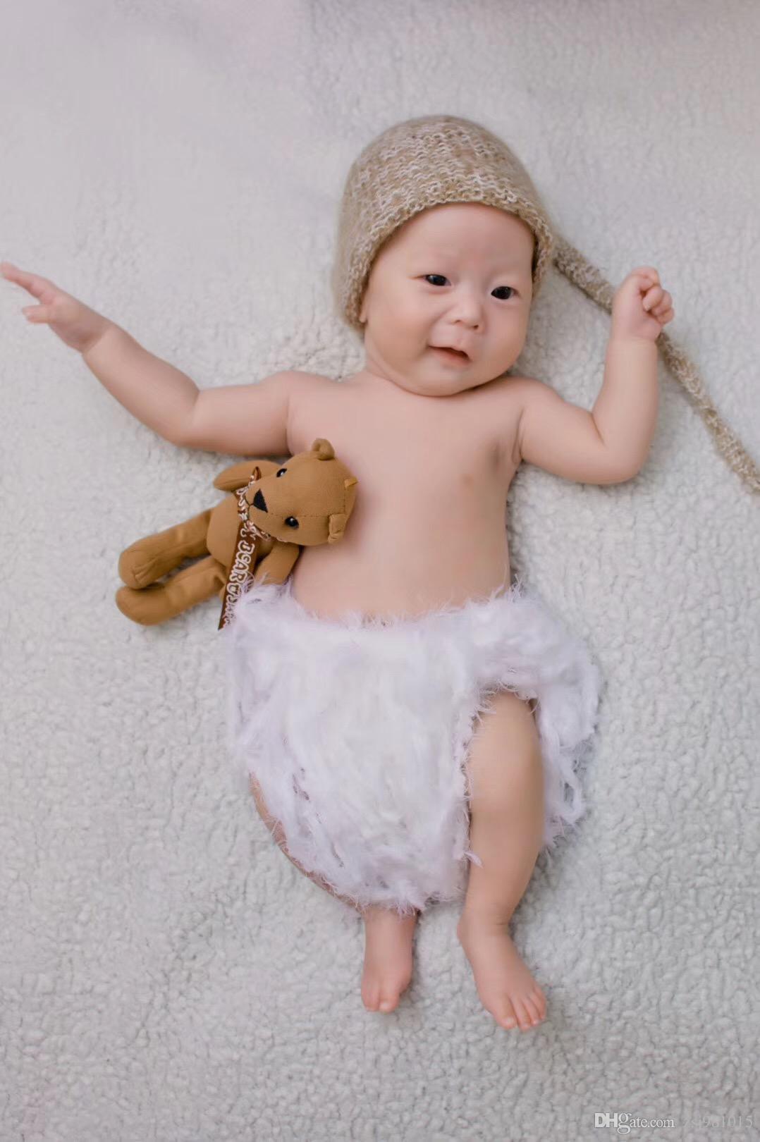 Compre Caqui Encantador Puro Lino Moda Bebé Sombrero Cálido Otoño E Invierno  0 3 Meses Bebés Y Niñas Recién Nacidos A  4.07 Del Zsj981015  1f0191eff57