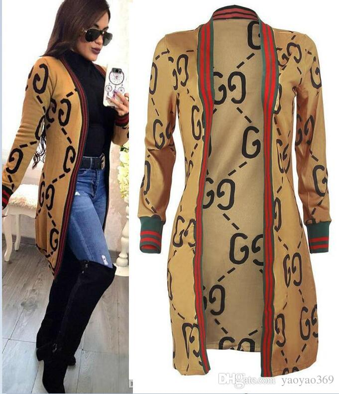 new spring womens letters jacket fashion female designer jackets 2019 hot sale outwear long coats