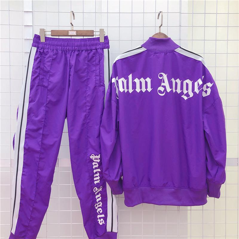 New Palm Angels Jacket Women Men High Quality Autumn Winter Streetwear Mens Designer Jackets Brand Tracksuits Jogger Pants B100891K