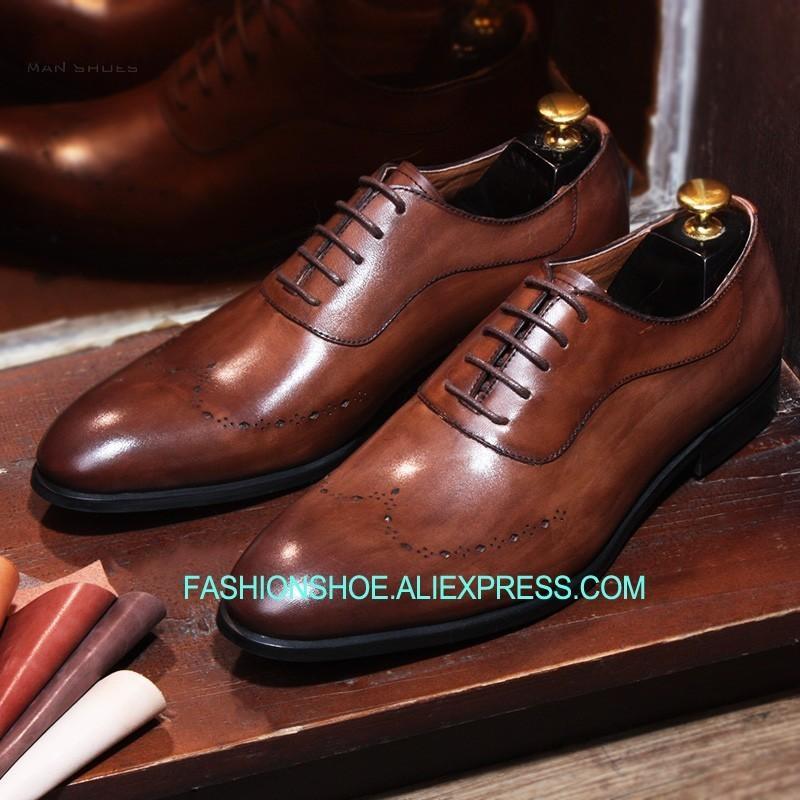 best sneakers 22594 c945f 2018 Goodyear Herren Business Anzug Schuhe Wohnungen Echtes Leder Kuh  Brogue Schuh Geschnitzt Lace Up Oxfords Handmade Man Schuhe Hot