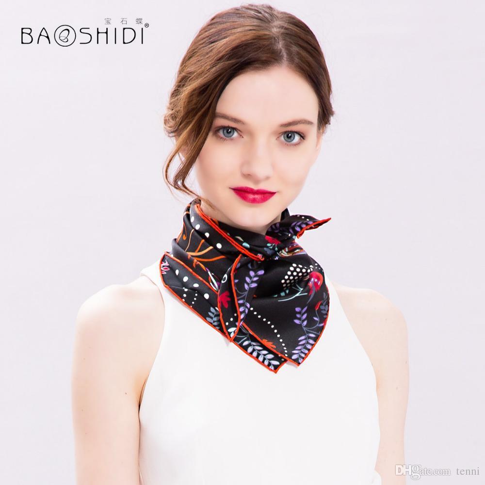 BAOSHIDI100% Silk Scarf Women 040d23dbc8