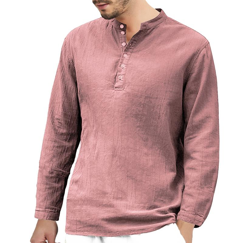 36b0d13a NIBESSER 2019 Spring Men Casual Shirts Solid Basic Long Sleeve Shirt ...