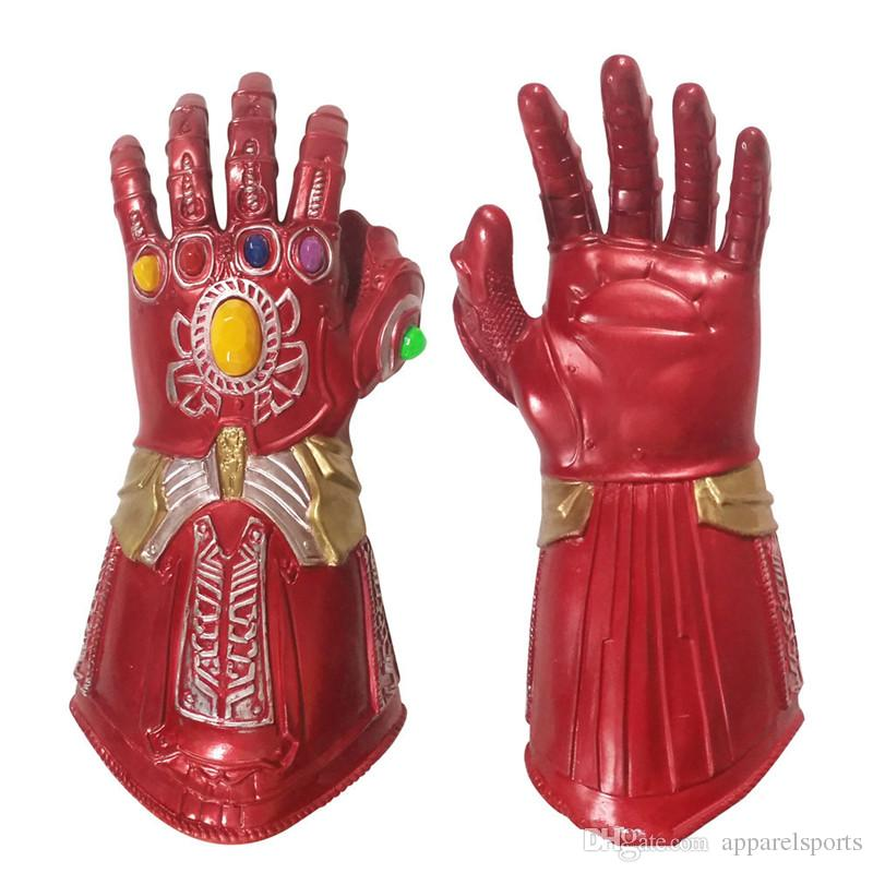Marvel Avengers Hero Cosplay Theme Costume Designer Glowing Gloves Halloween and Funny Dress Party Cosplay Props