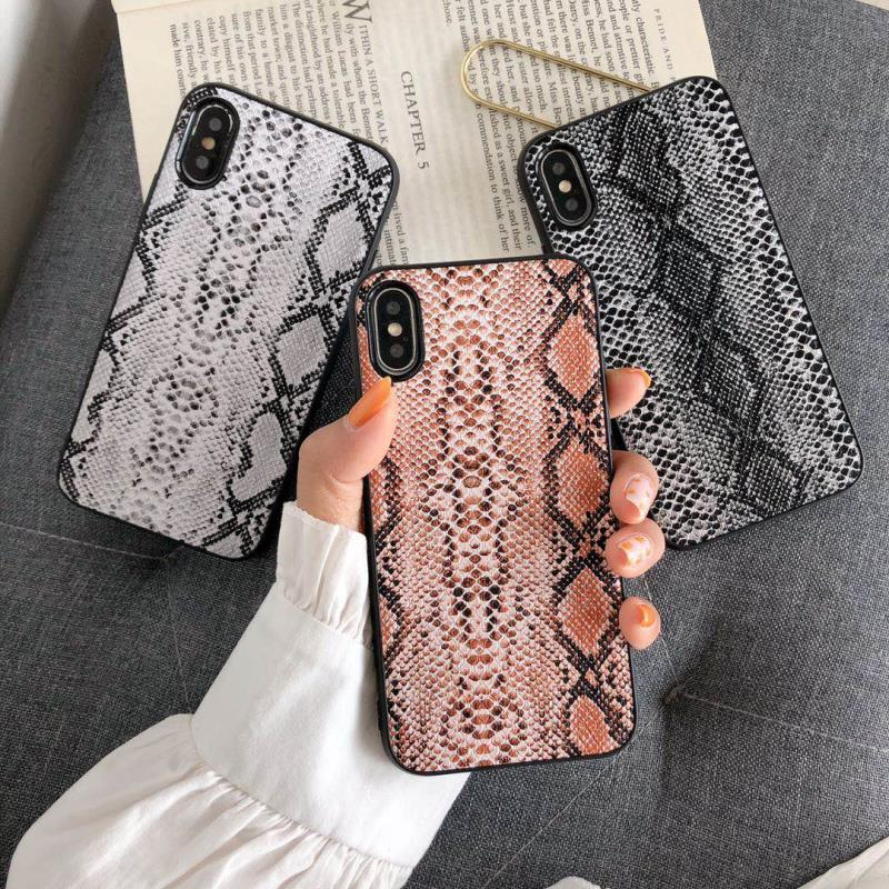 Luxo phone case capa legal para iphone 7 8 6 6 s plus x pele de cobra textura suave casos para iphone xr xs max saco de couro coque