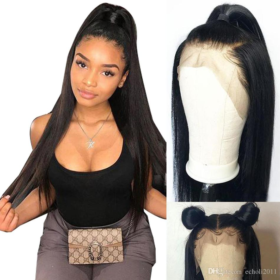 360 Lace Frontal Wig 250% Lace Front Human Hair Wigs mink straight Lace Front Human Hair Wigs For Black Woman
