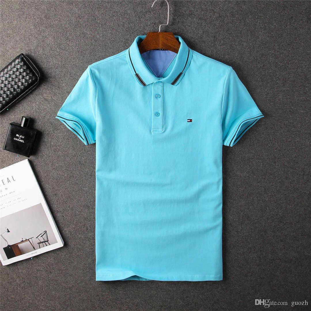 Hommes 18ss Manches Haute Shirt À Qualité Acheter Polo 4jLA5R