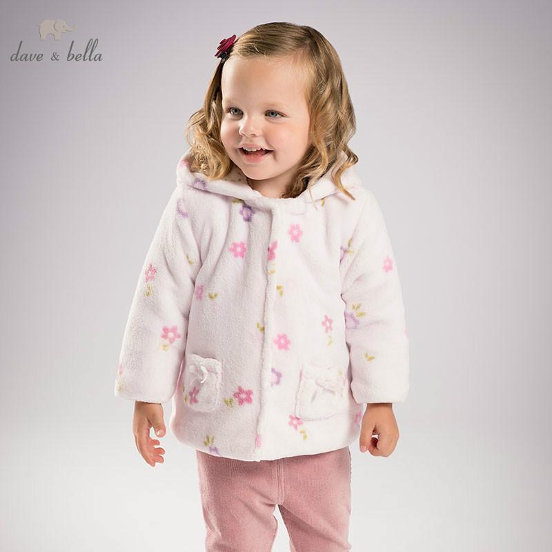8b05762b9459 Dave Bella Autumn Infant Baby Girl Fashion Floral Coats Toddler ...