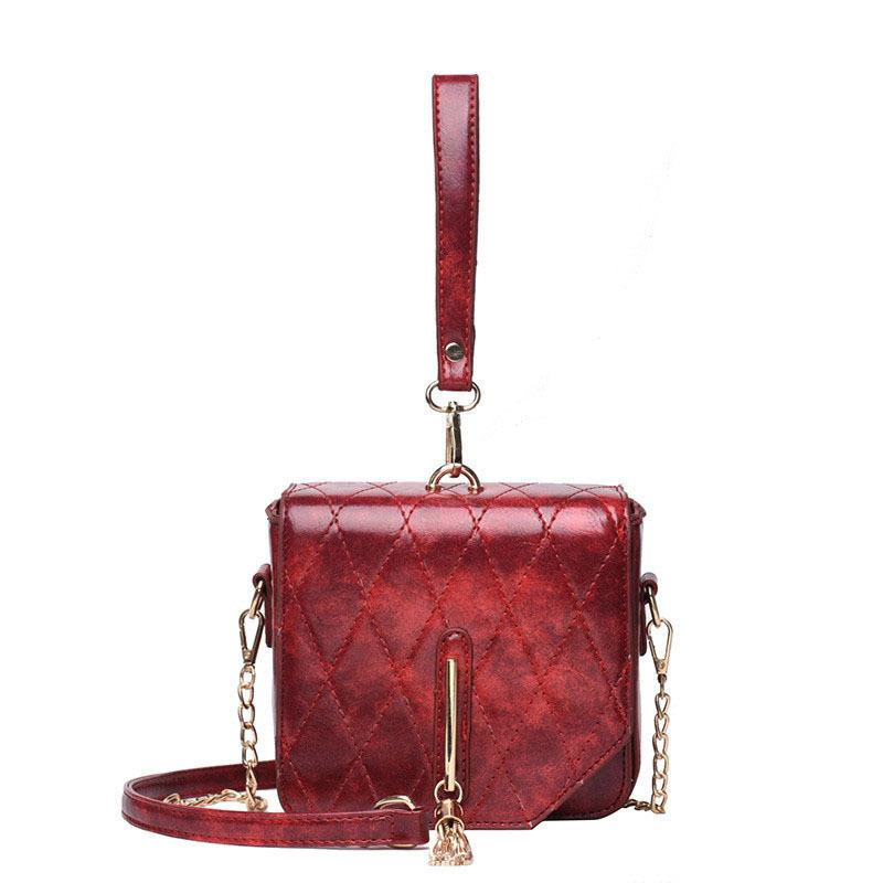 0c71f24682c Vintage Fashion Lady Mini Tote Bag 2019 New High Quality Pu Leather Women s  Designer Handbag Tassel Chain Shoulder Crossbody Bag