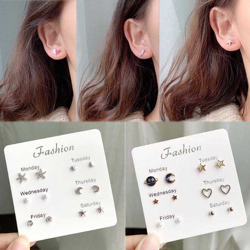 6a18cf8d0 2019 Jewelry Ear Stud Earrings Set Elegant Pearl Rhinestone Fashion Girls  Female New Heart Crystal Silver From Fabuline, $33.4   DHgate.Com