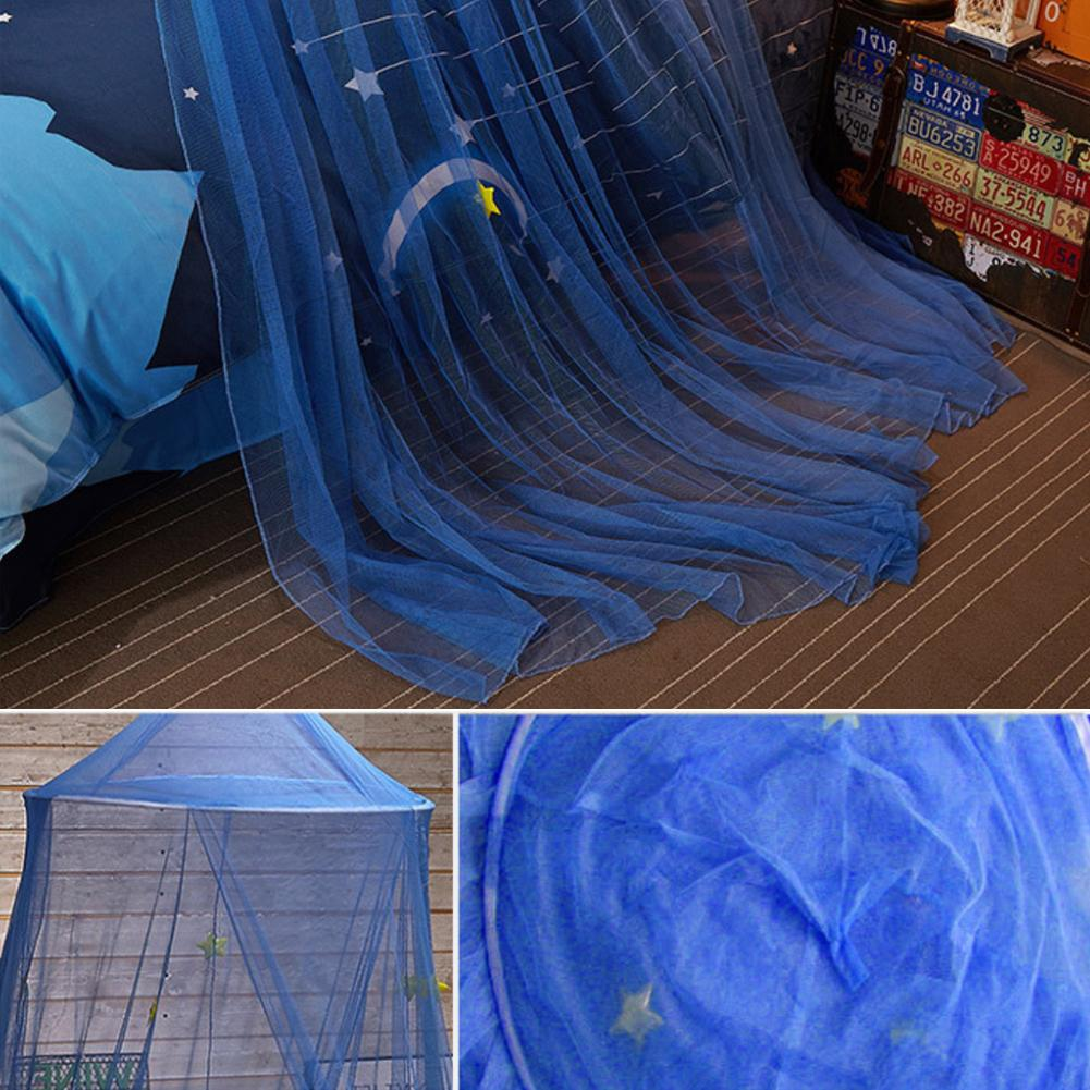 Crib Netting Mosquito Proof Play Bed Canopy Tent Curtains Boys Girls Princess Blue Star Reading Baby Round Dome Game House