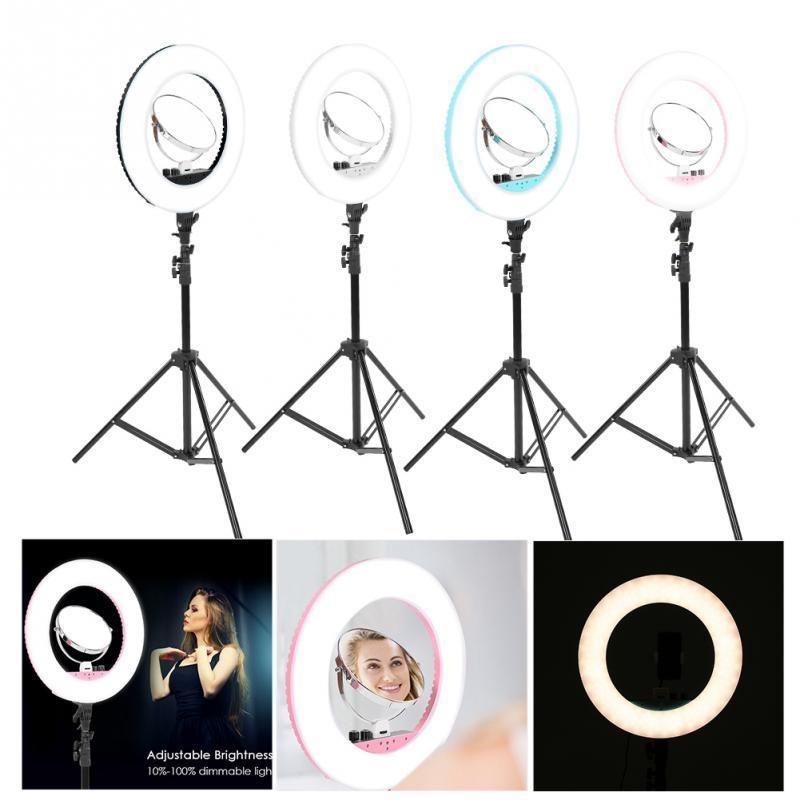 ee50d34ad70 Makeup LED Flesh Selfie Ring Photography Lighting Video Live Diffuser Light  With Tripod Makeup Light Led Mirror Illuminated Mirror Large Magnifying  Glass ...