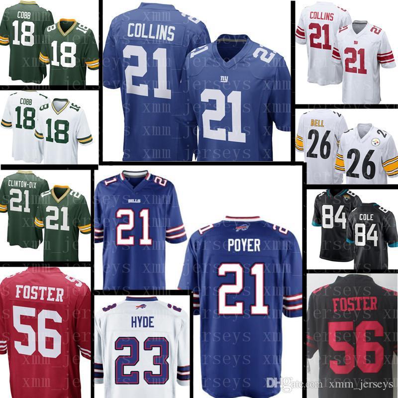 brand new a29c2 0feea New York Giants 21 Landon Collins Jersey Mens Buffalo Bills 21 Poyer 23  Micah Hyde 56 Reuben Foster San Francisco 49ers Jerseys