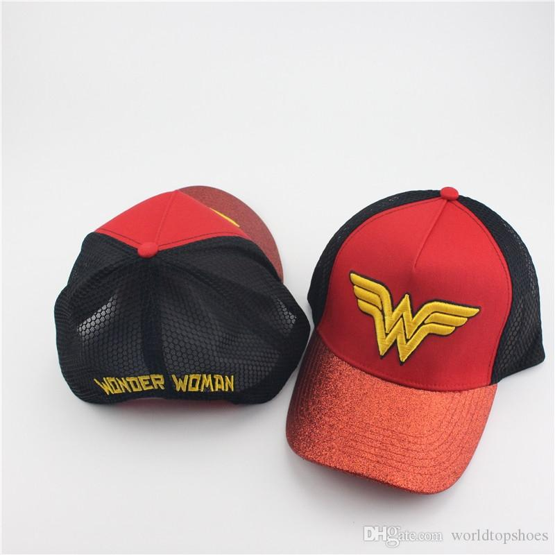 3db965082cf 2019 Wonder Woman Brand Hat Female Casual Lace Net Cap Trucker Hat Snapback  Female Mesh Baseball Hip Hop Caps Mesh Surface Snapback #220145 From ...