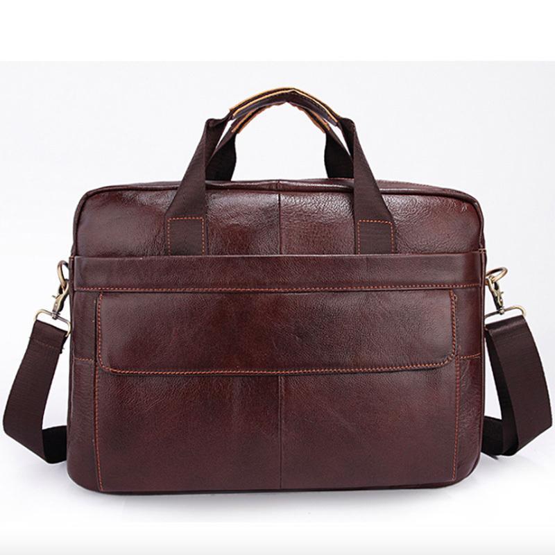 0f2ed6f9a5de 2019 Kvky Brand Genuine Cowhide Leather Mens Business Briefcase Laptop Bags  Men S Tote Bag Portfolio Men Shoulder Man Handbag Men Briefcase Best  Briefcases ...