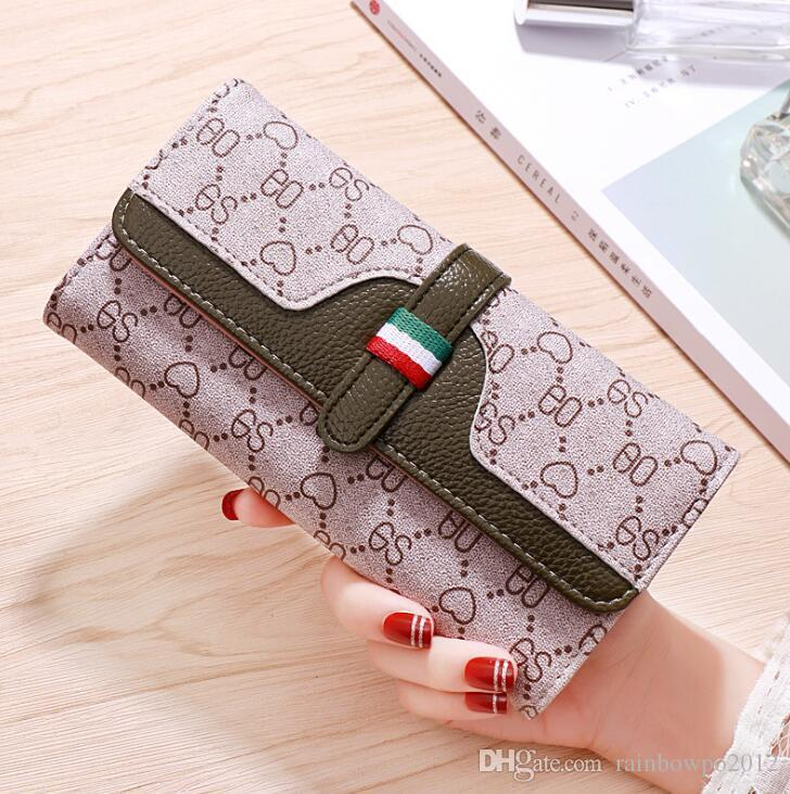 wholesale brand women handbag classic printed long wallet multi-functional leather women wallet small fresh contrast color wallet in hand