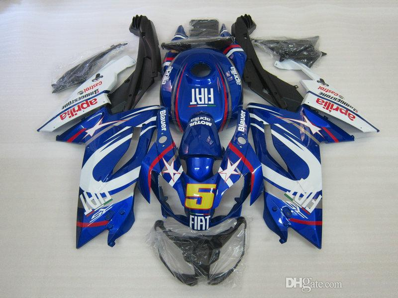 Injection mold Fairing kit for Aprilia RS125 06 07 08 09 10 11 RS 125 2006 2011 ABS Blue White Fairings set AA08