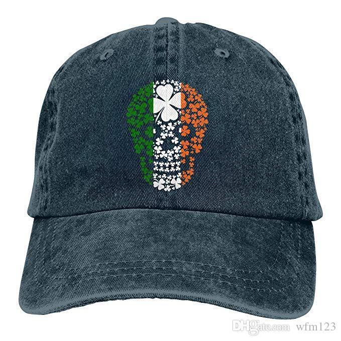 2019 New Designer Baseball Caps Print Hat Irish Skull Clover Mens Cotton  Adjustable Washed Twill Baseball Cap Hat Hats For Sale Neweracap From  Wfm123 3031f3eb21e