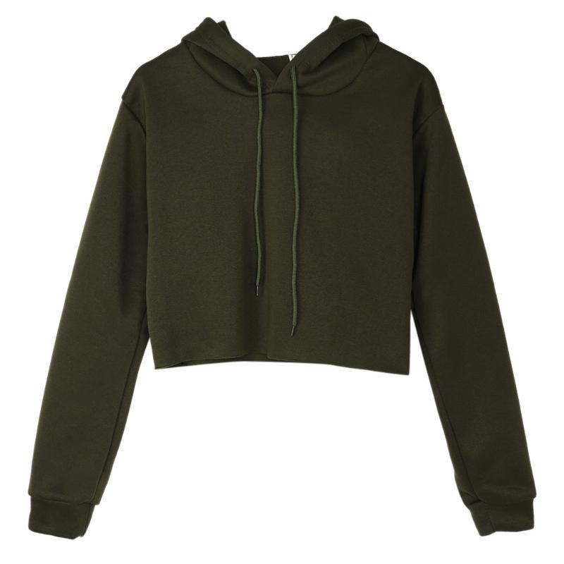 6de17df18b432 2019 Fashion Womens Cute Sweatshirts Solid Cat Ear Long Sleeve Cropped  Hoodies Pullover Tops N7 D From Vineger