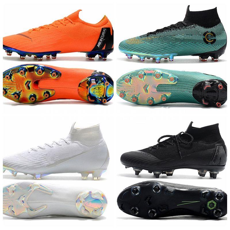 6d8885be457 Acheter 2019 Chaussures De Football Pour Enfants Mercurial Superfly VI  Chaussures De Football Pour Hommes Ronaldo CR7 Chaussures De Football Pour  Hommes De ...