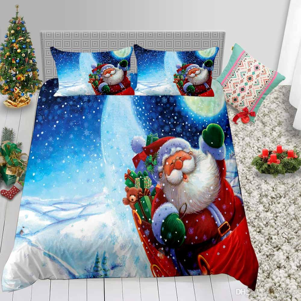 Kids Bedding Set Christmas Gifts Cartoon Fantasy Painted 3D Duvet Cover King Festival Queen Single Full Double Bed Cover with Pillowcase