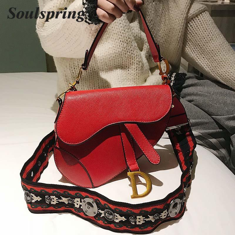 263dd5ab257b Saddle Bag 2018 Autumn And Winter New Hot Sale PU Leather Female Luxury  Brand Shoulder Bag Crossbody Big Strap Handbag Sac Cheap Handbags Cheap  Purses From ...