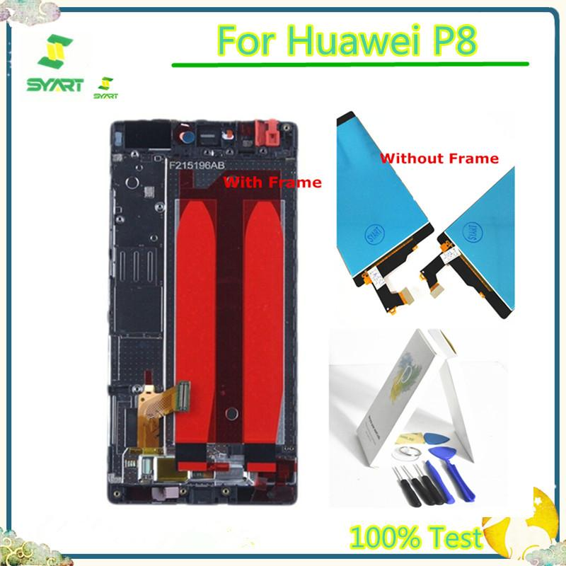 100% Tested 5.2 Inch P8 LCD Display Touch Screen Digitizer Assembly Replacement For Huawei P8 GRA_L09 GRA_UL00 GRA-L09