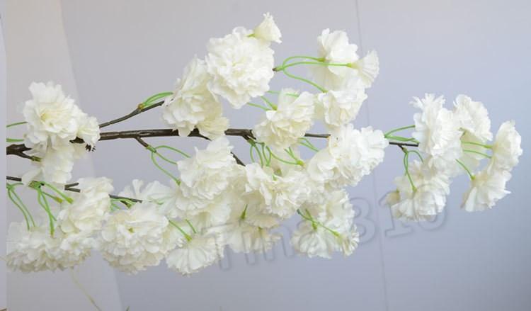 Belle branche Fleurs de cerisier Fleur artificielle soie Wisteria Vines pour la maison de mariage fleurs artificielles T2I5698 Centerpieces