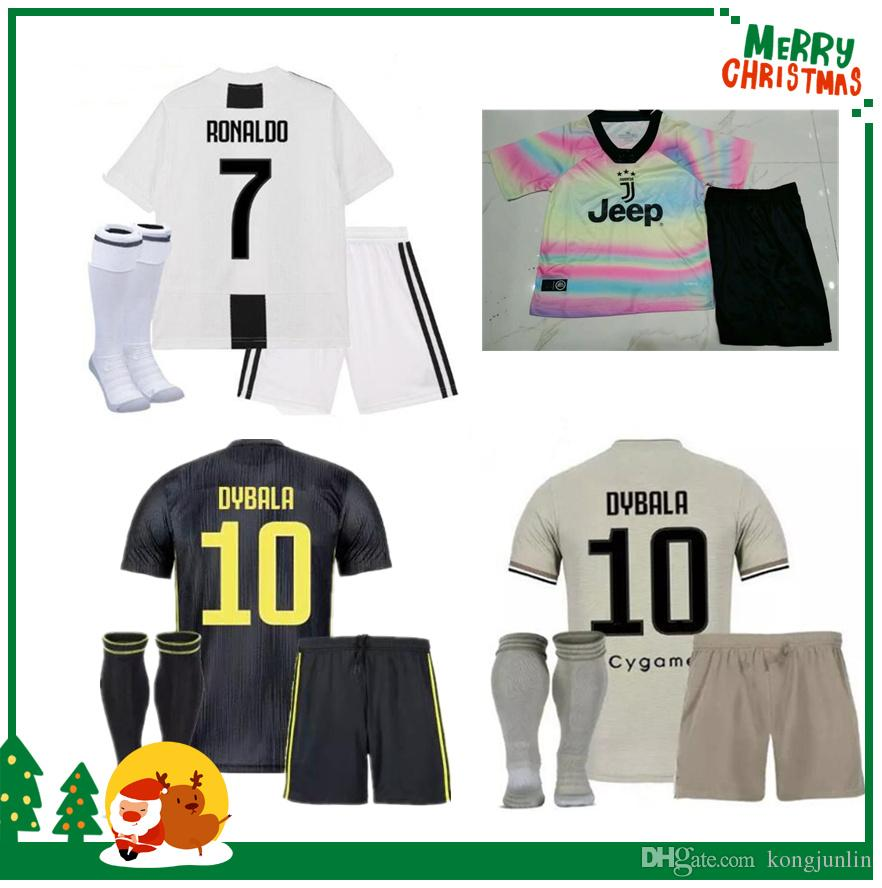 2019 18 19 Juventus RONALDO Kids Kit 2018 EMRE CAN HIGUAIN Juve Boy Kids Soccer  Jersey DYBALA Children Football Uniform PJANIC MANDZUKIC Youth From ... fd1d27aa8