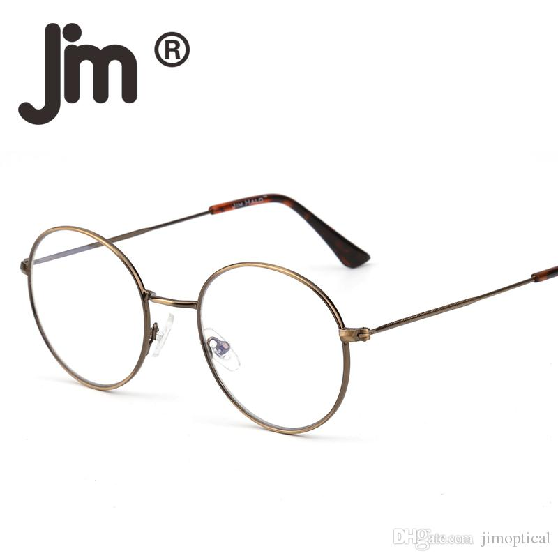 45fcfd602988 2019 Vintage Retro High Quality Round Wire Rim Glasses Circle Frame Clear  Lens Eyeglasses Optical Eyewear For Women Men From Jimoptical