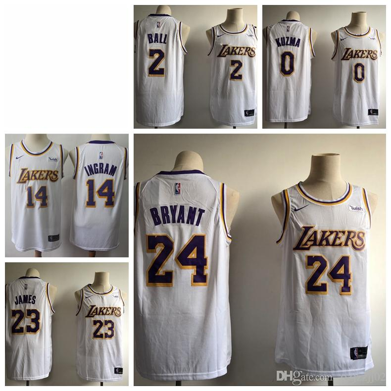 1d8e26790fca 2019 23 LeBron James Laker Jersey The City Los Angeles Kobe 24 Lonzo 2 Ball  Kyle 0 Kuzma Brandon 14 Ingram Basketball Jersey NEW White And Black From  ...