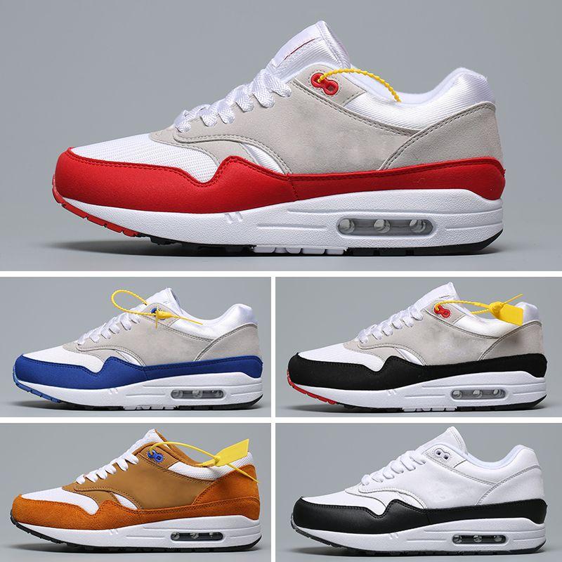Nike Air Max 87 Venta al por mayor 87 Atmos 87 Aniversario 1 Piet Parra 87 Premium lunar 1 DELUXE WATERMELON zapatillas deportivas de primera calidad