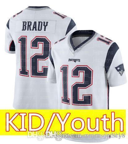 5d6fd2bb ... spain 2019 kid 12 tom brady 87 rob gronkowski jersey youth kids new  patriots football jerseys