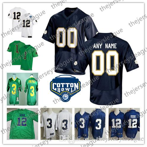 2019 Notre Dame Fighting Irish Custom Any Name Any Number Green White Navy  Stitched NCAA College Football Jerseys  3 Montana 12 Book From  Thejerseysleague 0748ab283