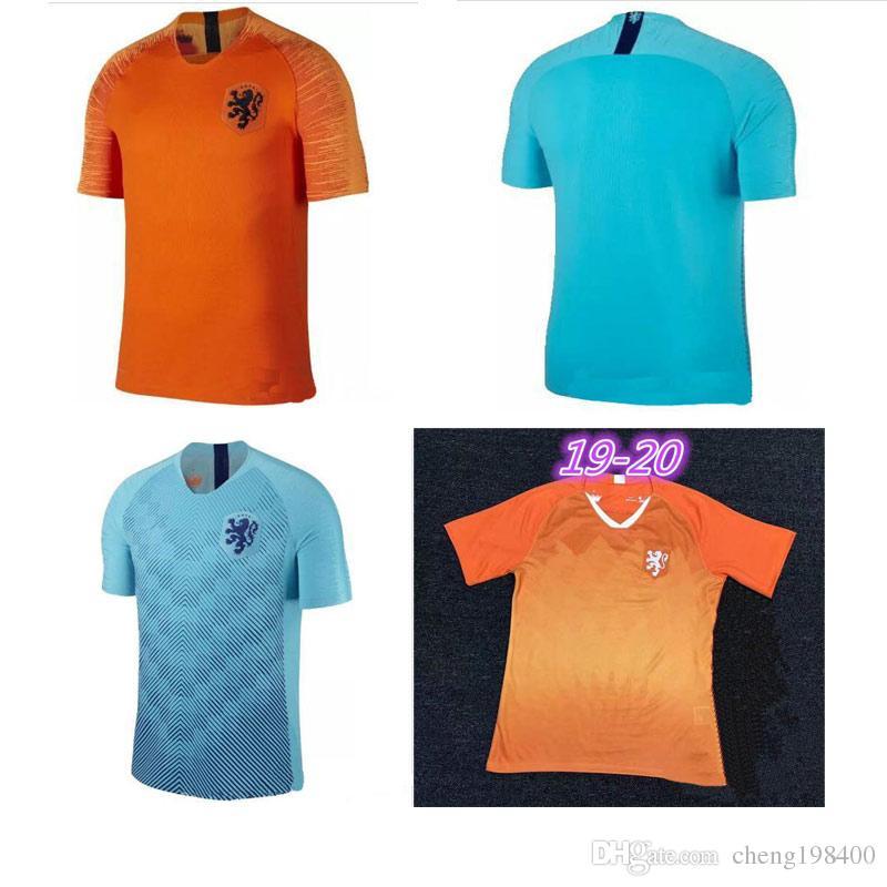 49bd45403 2019 2018 19 20 Nederland Soccer Jersey Netherlands Home Away Orange MEMPHIS  JERSEY ROBBEN 18 19 Thai Quality V.Persie Dutch Football Shirts From ...