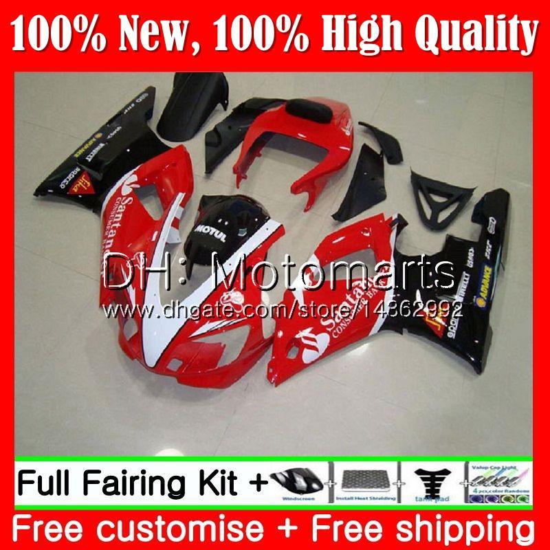 Cuerpo para YAMAHA YZF R 1 YZF 1000 YZF1000 YZFR1 98 99 Marco 93MT19 YZF-1000 YZF R1 98 99 YZF-R1 1998 1999 Fairing Bodywork Kit Santander