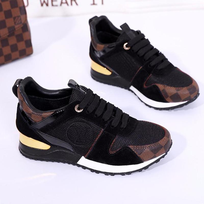 Women Sneakers Fashion Shoes Womens Run Away Sneaker Comfortable Breathable Flats Female Platform Sneakers Chaussures de Femmes W#17 Vintage