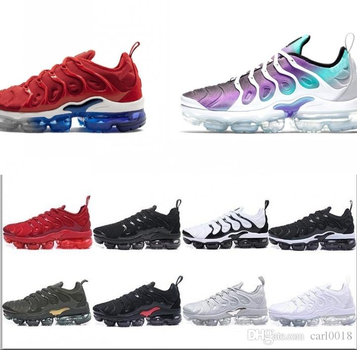 2520e51bf4a26 2019 2019 Fashion New Running Designer Sports Shoes TN VM Plus Running Shoes  For Men Trainers Women Luxury Brand Sneakers Classic Outdoor Shoe From  Carl0018 ...