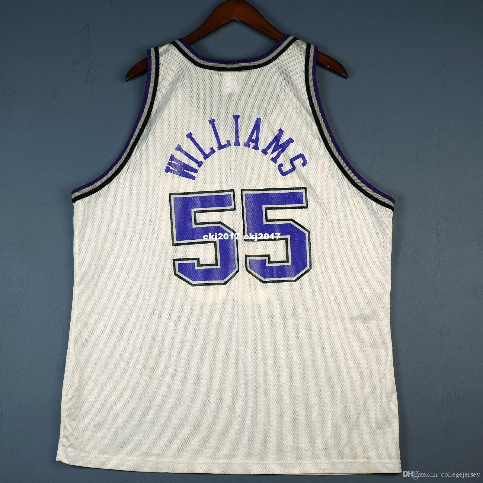 100% cousu Jason Williams # 55 champion cousu maillot pour homme blanc taille XS-6XL maillots de basket-ball cousu Ncaa