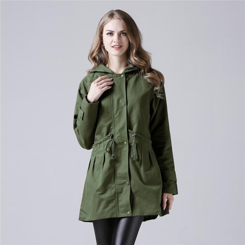 d6e014a73991 Street Casual Hoodies Outwear Windbreaker Green Jackets Clothes Plus ...