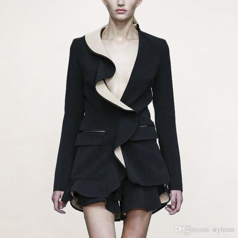 Frauen Kleidung & Zubehör 2019 Neuestes Design Mode Frauen Ol Lange Hülse Dünne Taste Business Blazer Jacke Mantel Outwear Anzüge & Sets