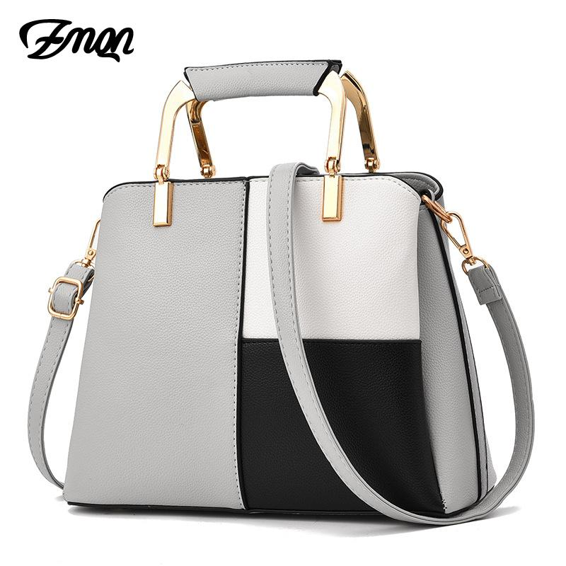 a7c9f06955f4 ZMQN Women Handbag 2019 Famous Designer Brand Bags Women Leather Handbag  Shoulder Bag For Girl Summer Patchwork Bag Female A726 Wholesale Bags Over  The ...