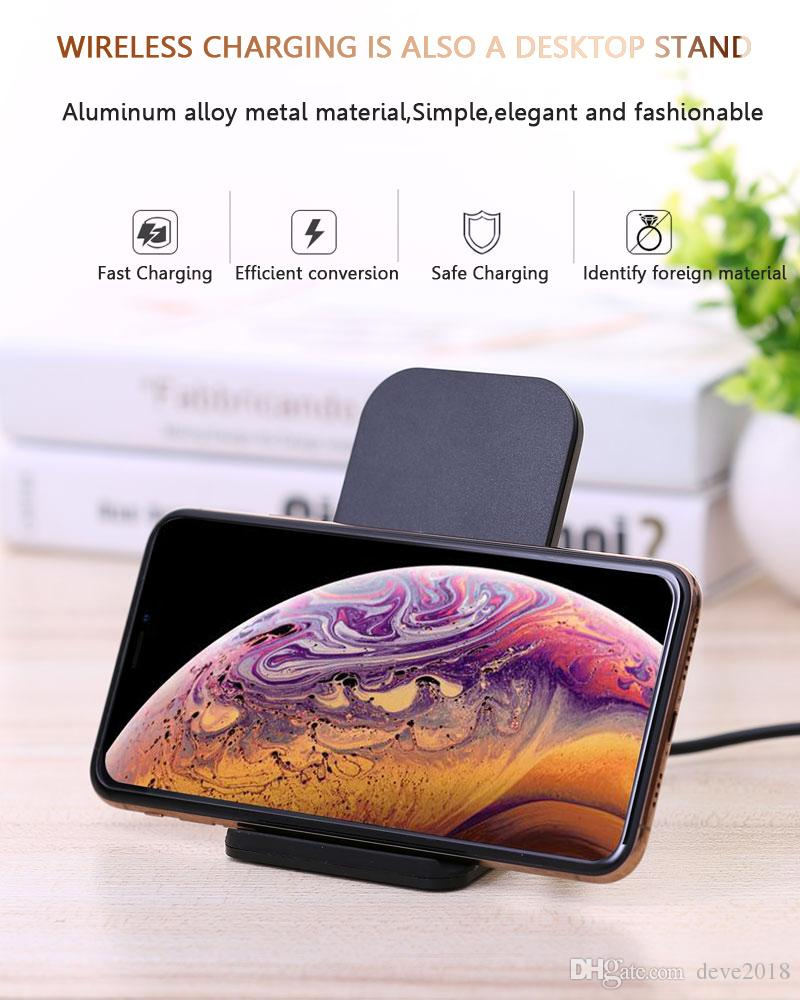 Double Coil QI Wirelss Fast Charger L8 360°Charging Mobile Phone Stand  Desktop Wireless Charger for iPhone and Android