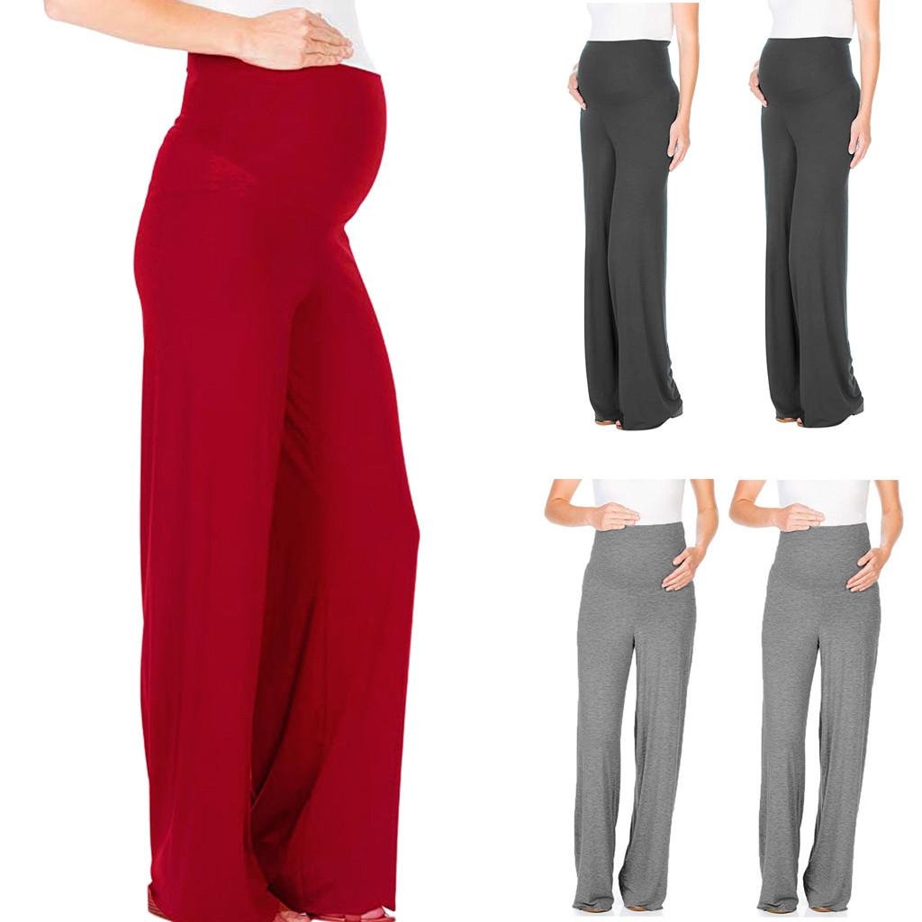 TELOTUNY Pregnant Loose High Waist trousers Maternity Woman casual Comfort nursing Yoga Ripped Pant Prop Belly Leggings CJ30