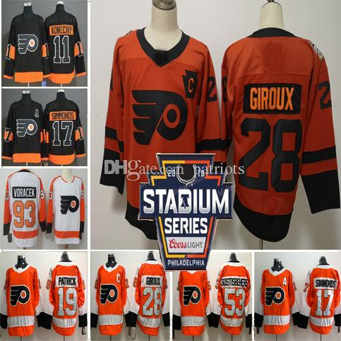 Men Women Kids Philadelphia Flyers 28 Claude Giroux 17 Wayne Simmonds 53  Shayne Gostisbehere Konecny Voracek 19 Nolan Patrick Hockey Jersey Ivan  Provorov ... 6eff9151b